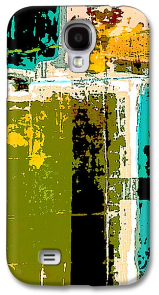 Color Block Galaxy S4 Cases - Abstract 1 Galaxy S4 Case by Glennis Siverson