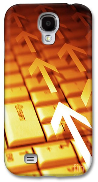 Keyboards Photographs Galaxy S4 Cases - Abstract Background Galaxy S4 Case by Carlos Caetano