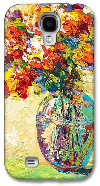 Vase Paintings Galaxy S4 Cases - Abstract Boquet IV Galaxy S4 Case by Marion Rose