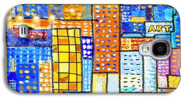 Frame House Galaxy S4 Cases - Abstract City Galaxy S4 Case by Setsiri Silapasuwanchai