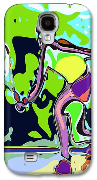 Athlete Digital Art Galaxy S4 Cases - Abstract Female Tennis Player 2 Galaxy S4 Case by Chris Butler