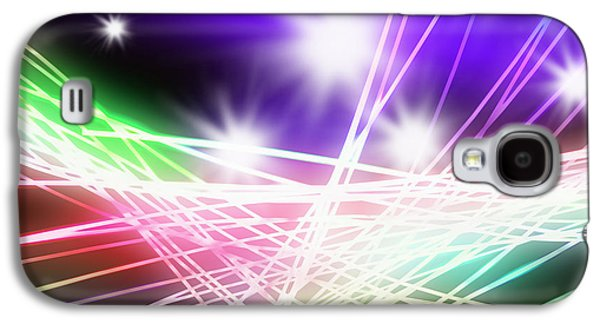Electronics Photographs Galaxy S4 Cases - Abstract of stage concert lighting Galaxy S4 Case by Setsiri Silapasuwanchai