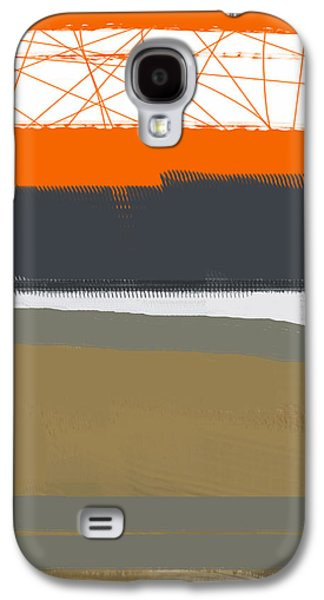 Colorful Abstract Galaxy S4 Cases - Abstract Orange 1 Galaxy S4 Case by Naxart Studio