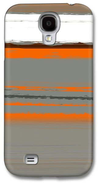 Colorful Abstract Galaxy S4 Cases - Abstract Orange 2 Galaxy S4 Case by Naxart Studio