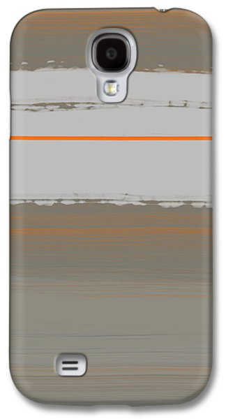 Modern Abstract Galaxy S4 Cases - Abstract Orange 4 Galaxy S4 Case by Naxart Studio