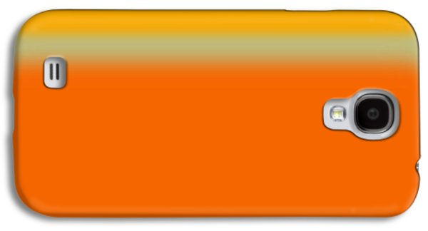 Modern Abstract Galaxy S4 Cases - Abstract Orange and Yellow Galaxy S4 Case by Naxart Studio