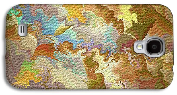 Abstract Digital Digital Galaxy S4 Cases - Abstract Puzzle Galaxy S4 Case by Deborah Benoit