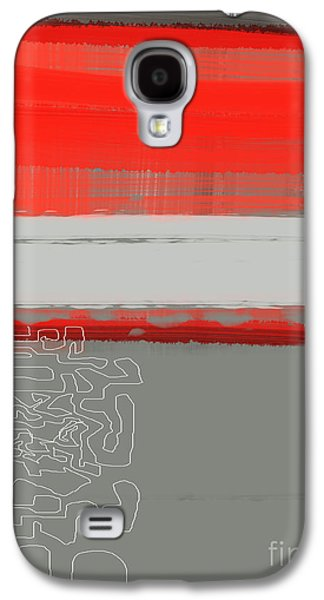 Shapes Galaxy S4 Cases - Abstract Red 1 Galaxy S4 Case by Naxart Studio