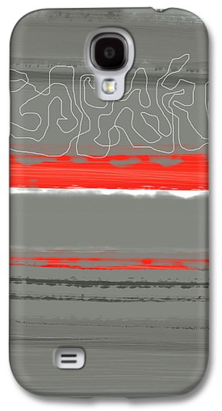 Modern Abstract Galaxy S4 Cases - Abstract Red 3 Galaxy S4 Case by Naxart Studio