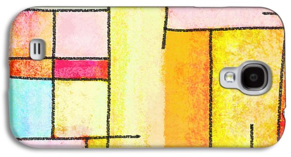 Colorful Abstract Pastels Galaxy S4 Cases - Abstract Town Galaxy S4 Case by Setsiri Silapasuwanchai