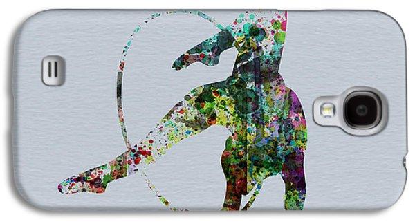 Ballerinas Galaxy S4 Cases - Acrobatic dancer Galaxy S4 Case by Naxart Studio
