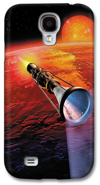 Astronomy Paintings Galaxy S4 Cases - Across the Sea of Suns Galaxy S4 Case by Don Dixon