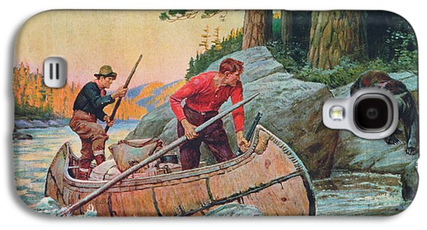 Retro Antique Galaxy S4 Cases - Adventures On The Nipigon Galaxy S4 Case by JQ Licensing
