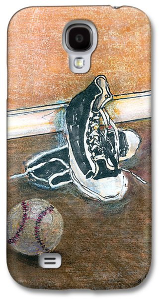Sneakers Mixed Media Galaxy S4 Cases - After The Game Galaxy S4 Case by Arline Wagner