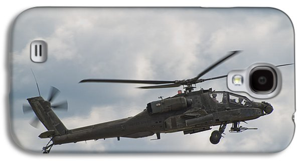 Helicopter Photographs Galaxy S4 Cases - AH-64 Apache Galaxy S4 Case by Sebastian Musial
