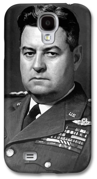 America Paintings Galaxy S4 Cases - Air Force General Curtis Lemay  Galaxy S4 Case by War Is Hell Store