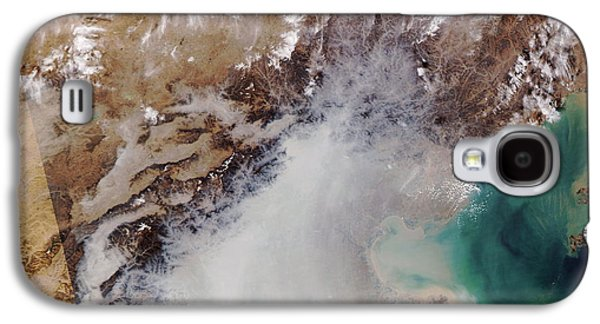 Temperature Inversion Galaxy S4 Cases - Air Pollution Over China Galaxy S4 Case by NASA / Science Source