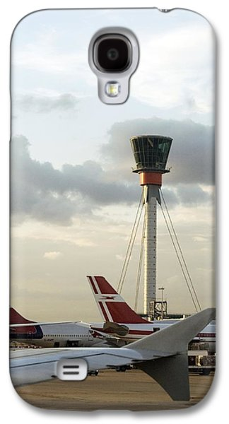 Traffic Control Galaxy S4 Cases - Air Traffic Control Tower, Uk Galaxy S4 Case by Carlos Dominguez