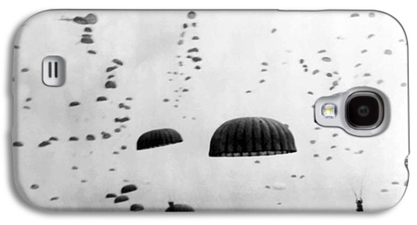 Americans Digital Art Galaxy S4 Cases - Airborne Mission During WW2  Galaxy S4 Case by War Is Hell Store