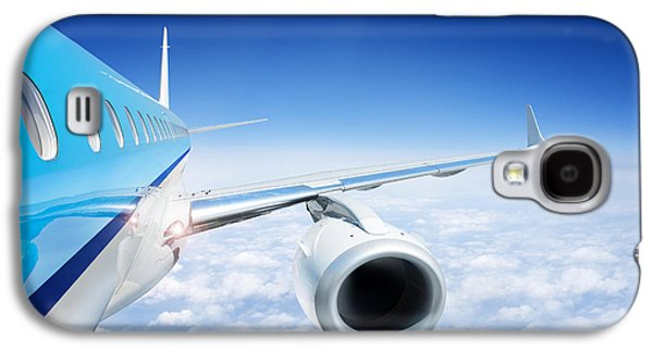 Electrical Component Photographs Galaxy S4 Cases - Airliner In Flight Above The Clouds Galaxy S4 Case by Corepics