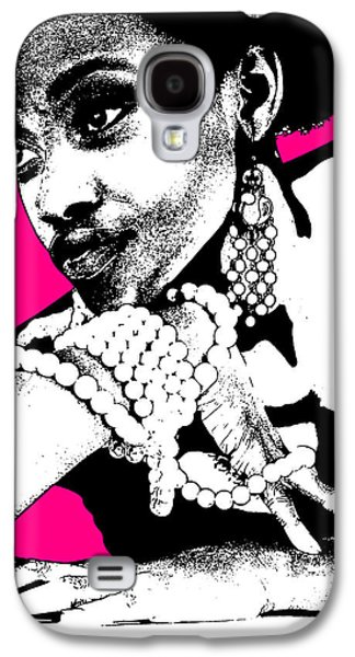 African-american Galaxy S4 Cases - Aisha Pink Galaxy S4 Case by Naxart Studio