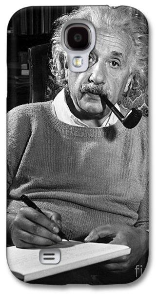 Landmarks Photographs Galaxy S4 Cases - Albert Einstein Galaxy S4 Case by Granger