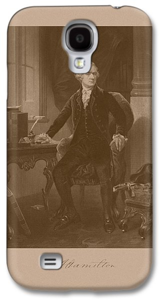 Declaration Of Independence Galaxy S4 Cases - Alexander Hamilton Sitting At His Desk Galaxy S4 Case by War Is Hell Store