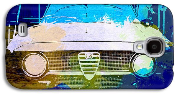 Engine Galaxy S4 Cases - Alfa Romeo watercolor Galaxy S4 Case by Naxart Studio