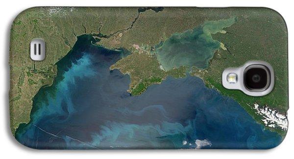 Algal Galaxy S4 Cases - Algal Blooms In The Black Sea Galaxy S4 Case by NASA / Science Source