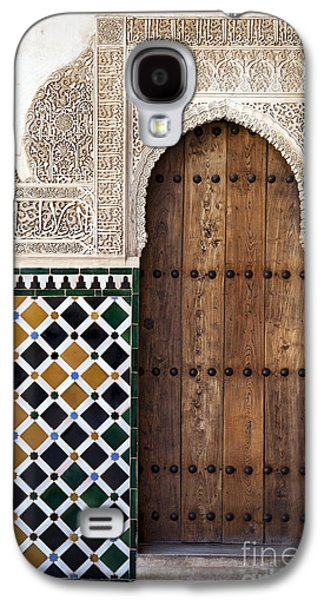 Stone Buildings Galaxy S4 Cases - Alhambra door detail Galaxy S4 Case by Jane Rix