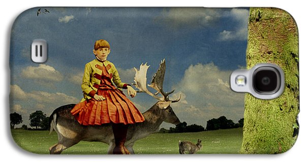 Alice In Wonderland Galaxy S4 Cases - Alice Galaxy S4 Case by Martine Roch