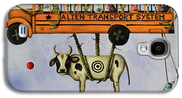 Interplanetary Space Paintings Galaxy S4 Cases - Alien Transport System Galaxy S4 Case by Leah Saulnier The Painting Maniac