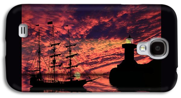 Pirate Ships Galaxy S4 Cases - Almost Home Galaxy S4 Case by Shane Bechler