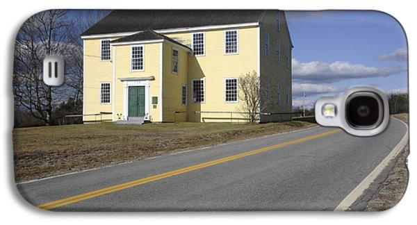 Rural Maine Roads Galaxy S4 Cases - Alna Meetinghouse - Alna Maine USA Galaxy S4 Case by Erin Paul Donovan