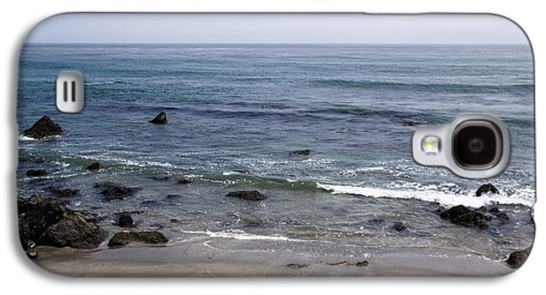 Elephant Seals Galaxy S4 Cases - Alone On The Beach Galaxy S4 Case by Heidi Smith