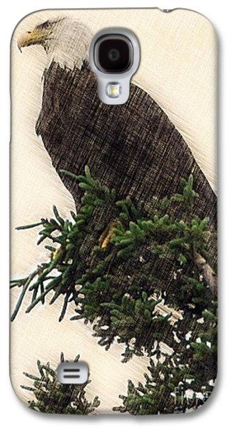 Dan Friend Galaxy S4 Cases - American Bald Eagle in tree Galaxy S4 Case by Dan Friend