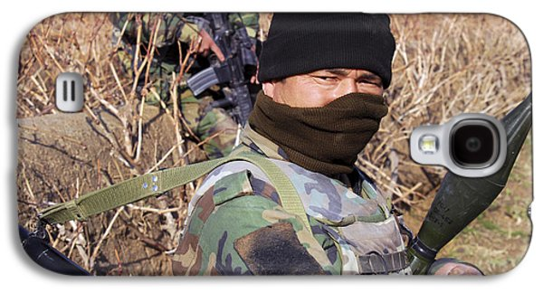 Rpg Galaxy S4 Cases - An Afghan Commando On Patrol Galaxy S4 Case by Stocktrek Images