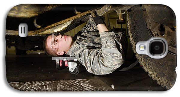 Replacing Galaxy S4 Cases - An Airman Inspects The Undercarriage Galaxy S4 Case by Stocktrek Images