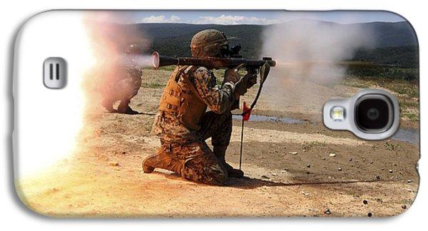 Rpg Galaxy S4 Cases - An Assaultman Fires A Rocket Propelled Galaxy S4 Case by Stocktrek Images