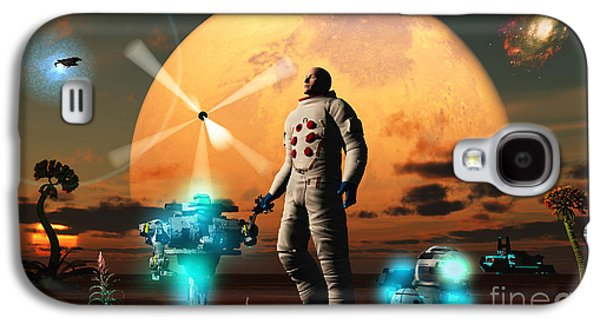 Surreal Landscape Galaxy S4 Cases - An Astronaut Discovers A World With An Galaxy S4 Case by Mark Stevenson