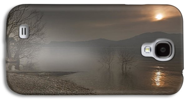 Sun Galaxy S4 Cases - an evening at the Lake Maggiore Galaxy S4 Case by Joana Kruse