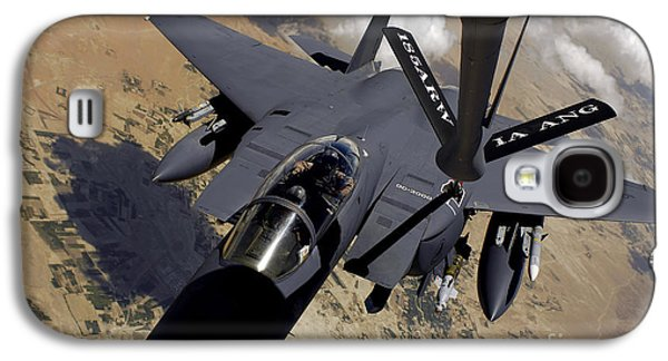 Mechanism Galaxy S4 Cases - An F-15 Strike Eagle Prepares Galaxy S4 Case by Stocktrek Images