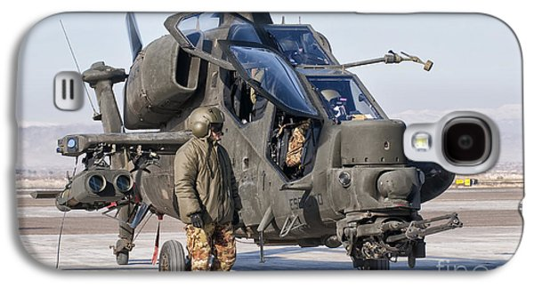 Helicopter Photographs Galaxy S4 Cases - An Italian Army Agusta Aw129 Mangusta Galaxy S4 Case by Giovanni Colla