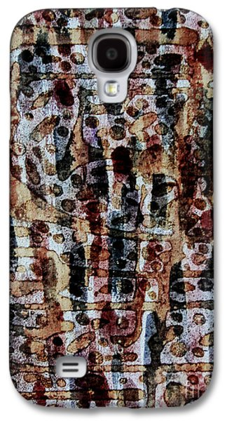 Ancient Tapestries - Textiles Galaxy S4 Cases - Ancient Etch Galaxy S4 Case by TB Schenck