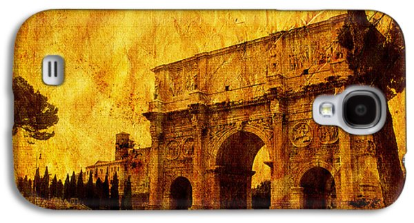 Architecture Framed Prints Galaxy S4 Cases - Ancient Rome Galaxy S4 Case by Stefano Senise
