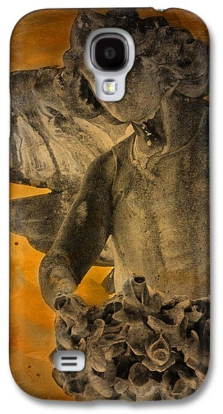 Headstones Galaxy S4 Cases - Angel of Mercy Galaxy S4 Case by Larry Marshall