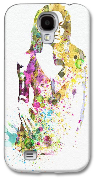 Wife Galaxy S4 Cases - Angelina Jolie 2 Galaxy S4 Case by Naxart Studio