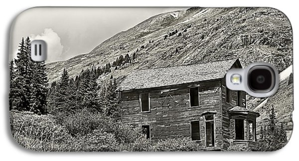 Mining Photos Galaxy S4 Cases - Animas Forks in BlackandWhite Galaxy S4 Case by Melany Sarafis