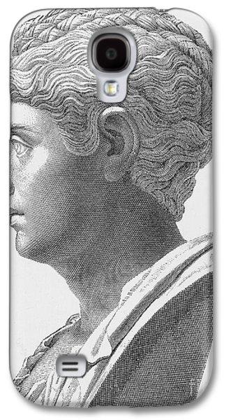 Statue Portrait Galaxy S4 Cases - Anna Galeria Faustina Galaxy S4 Case by Granger