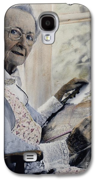 1950s Portraits Galaxy S4 Cases - Anna Mary Robertson Galaxy S4 Case by Granger